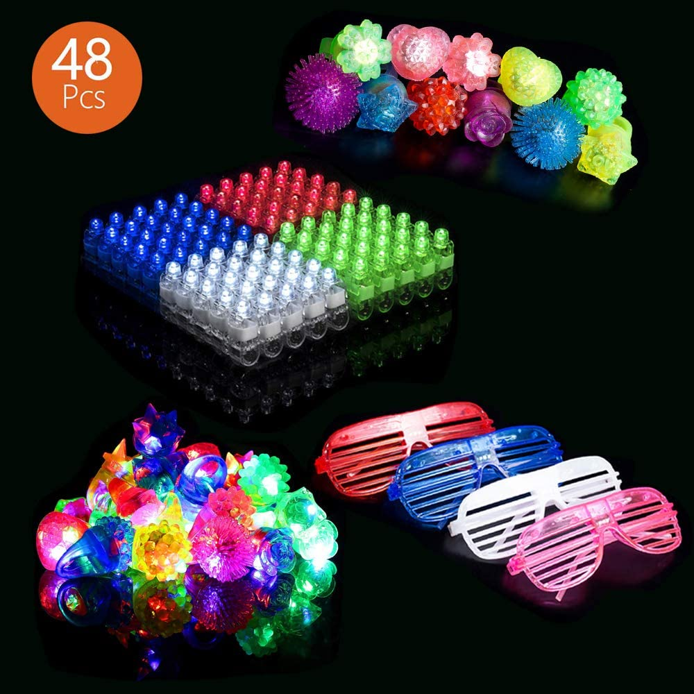 SVET BRADOL Light Up Rings - LED Flash Toy Bumpy Party Rings Lights for Kids Teens Adults (1)