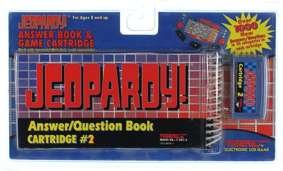 Jeopardy Answer/Question book Cartridge #2 by Tiger Electronics