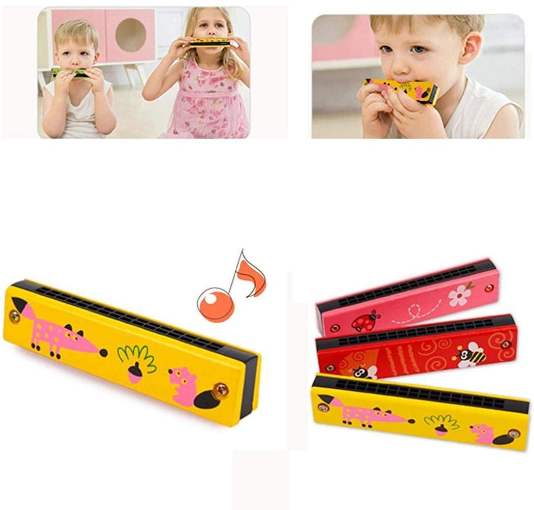 Etuoji Cartoon Wooden Kids Harmonica Musical Instrument Puzzle Educational Toy Musical Instruments