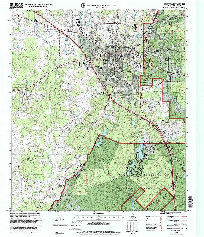 Map Print - Huntsville, Texas (1997), 1:24000 Scale - 24