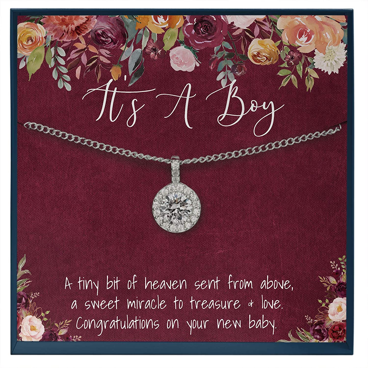 Muse Infinite Mom and Baby Gift Idea, It's A Boy Quote, for Mom, Gift for Mom with Baby Boy, New Mom Gift