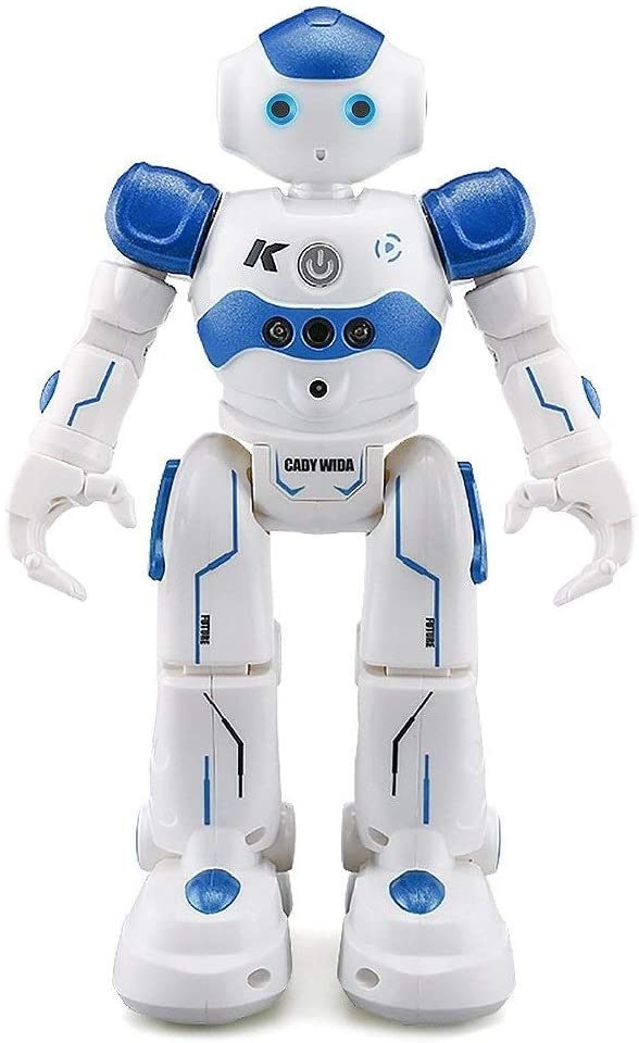 TYOP Dancing Robot, Remote Control Robot Educational Toys, Intelligent Singing and Dancing, Children's Electric Interactive Toys (Color : Blue)