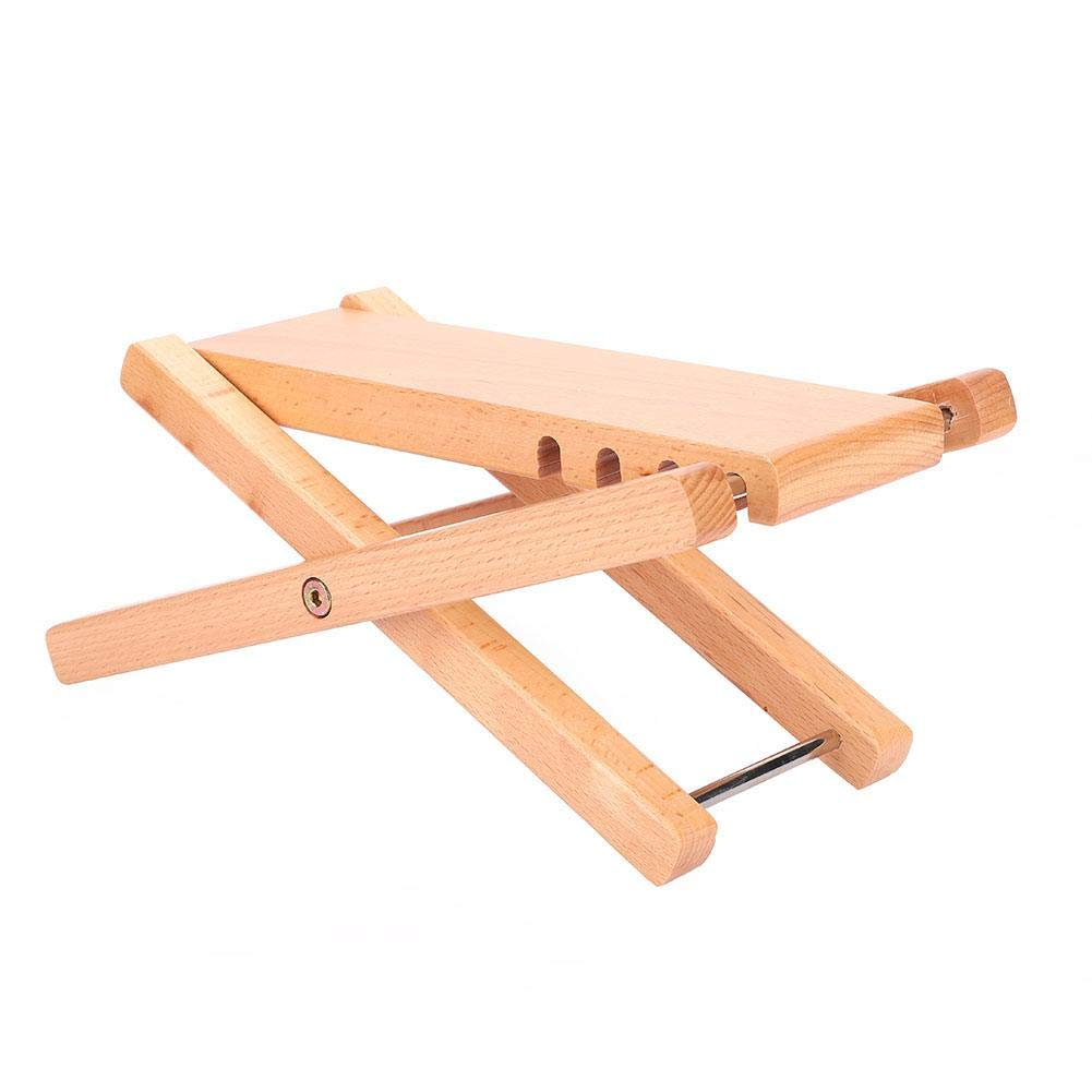 Slap-up Wooden Guitar Footstool Pedal Height Adjustable Guitar Pedal Music Foot Rest for Guitar Playing