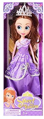 Binglinghua Princess Doll & Dress up Playset with Accessories (Purple)