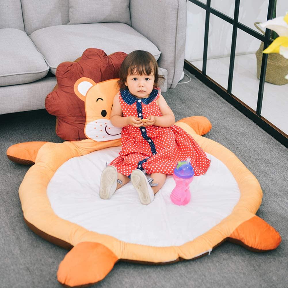 qwqqaq Kids Animal Floor Mat Baby Play Mat Cotton Nursery Rugs Thicken Soft Area Rug Non Slip Floor Cushion Tatami Teepee Mat-a 100x150cm(39x59inch)