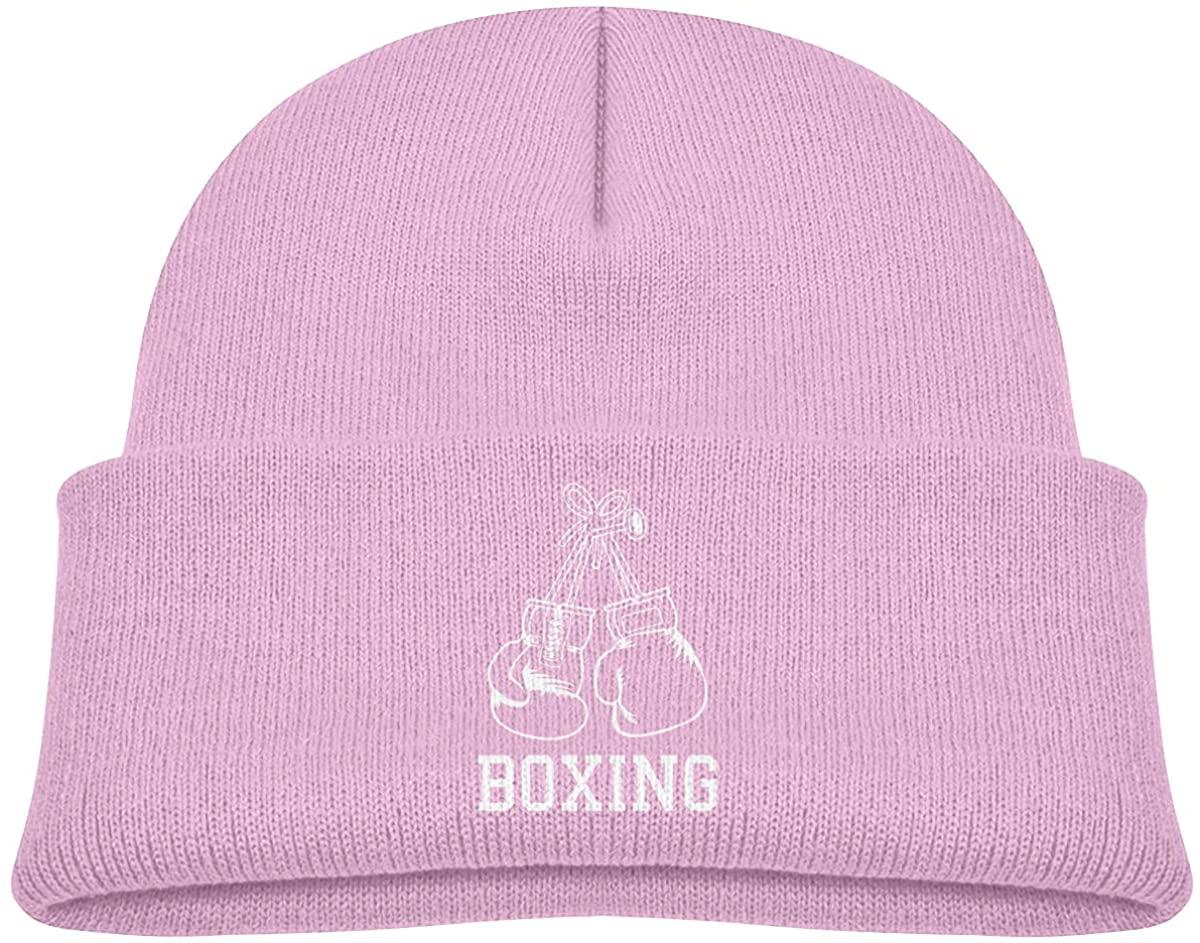 EASON-G Toddler's Beanie Boxing Gloves Cuffed Knit Hat Skull Cap