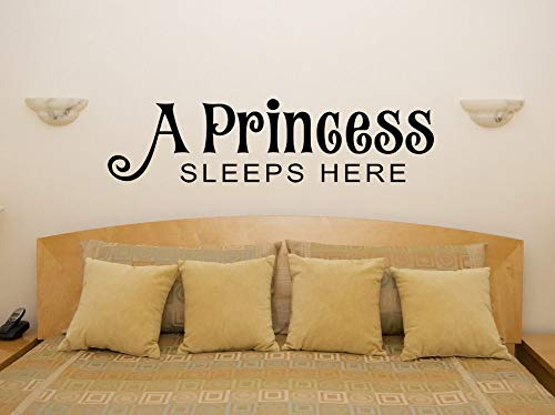 A Princess Nights Here Nursery for Kids Bedroom Decal Photo Art for Home Bedroom Decor
