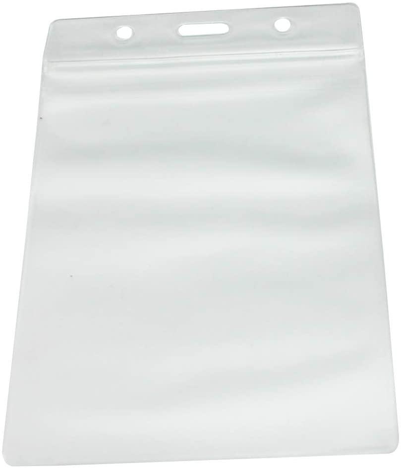 Fenggtonqii 95mmX75mm Vertical Soft Frosting Vinyl Name Holder Slot ID Card Pass Badge Holder Pack of 40