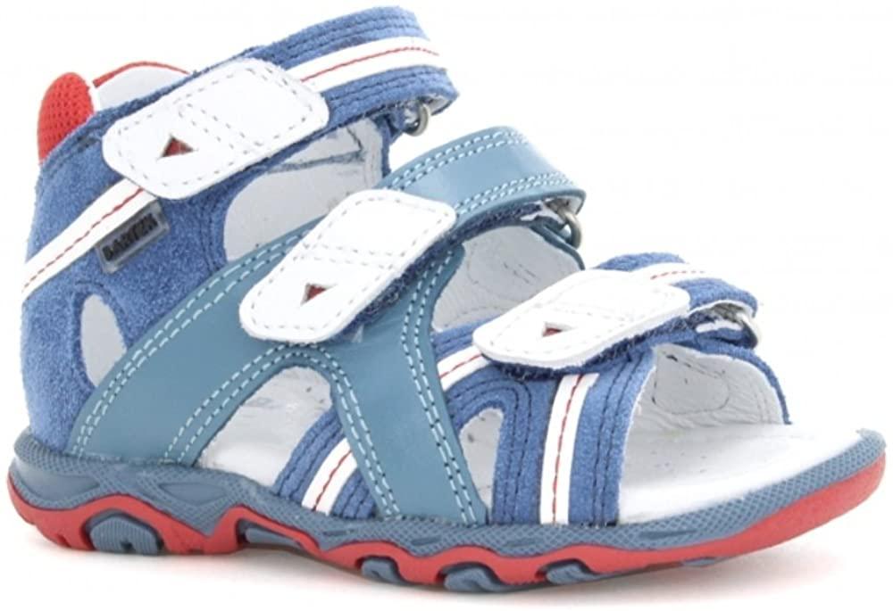Bartek Baby Boys Leather High Sandals 11708/PPL Navy (Infant/Toddler)
