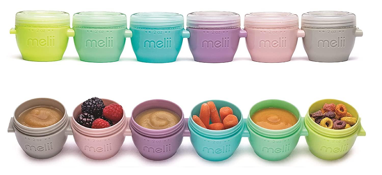 Melii 11000 Snap & Go Pods Baby Food Freezer Storage Container, Plastic
