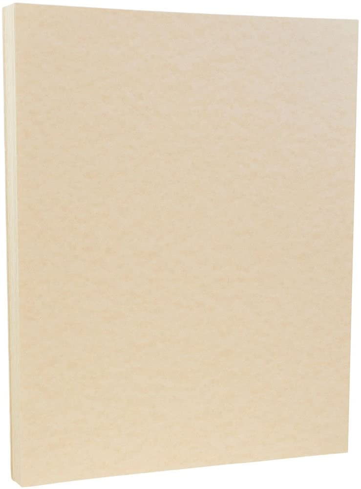 JAM PAPER Parchment 65lb Cardstock - 8.5 x 11 Coverstock - Natural Recycled - 50 Sheets/Pack