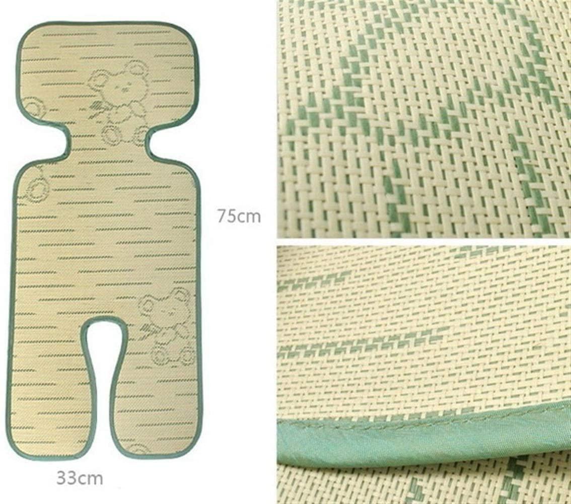 PCF Bamboo Fiber Summer Baby Stroller Sheet Baby Stroller Seat Cushion Anti-Allergy Umbrella Car Mat Baby Stroller Accessories (Color : Green)