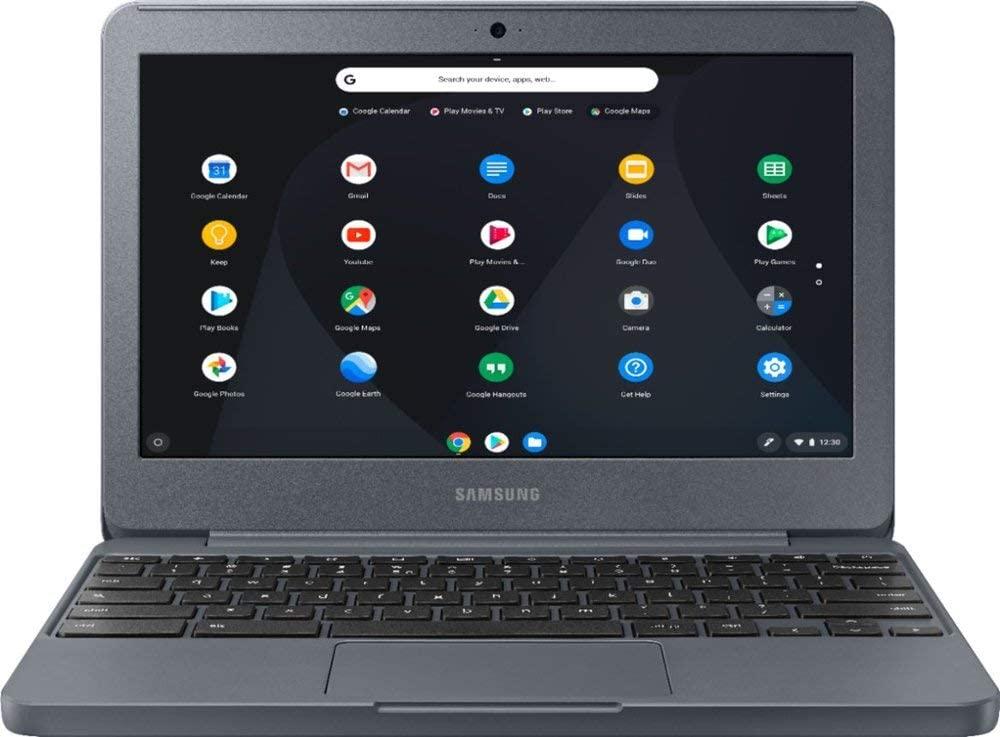 Samsung Chromebook 3 11.6-inch HD WLED Intel Celeron 4GB 32GB eMMC Chrome OS Laptop (Charcoal)