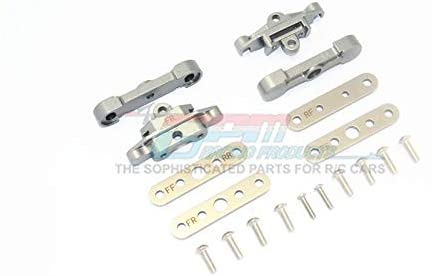 Traxxas 1/10 Maxx 4WD Monster Truck Upgrade Parts Aluminum Front + Rear Lower Arm Tie Bar Mount - 18Pc Set Gray Silver