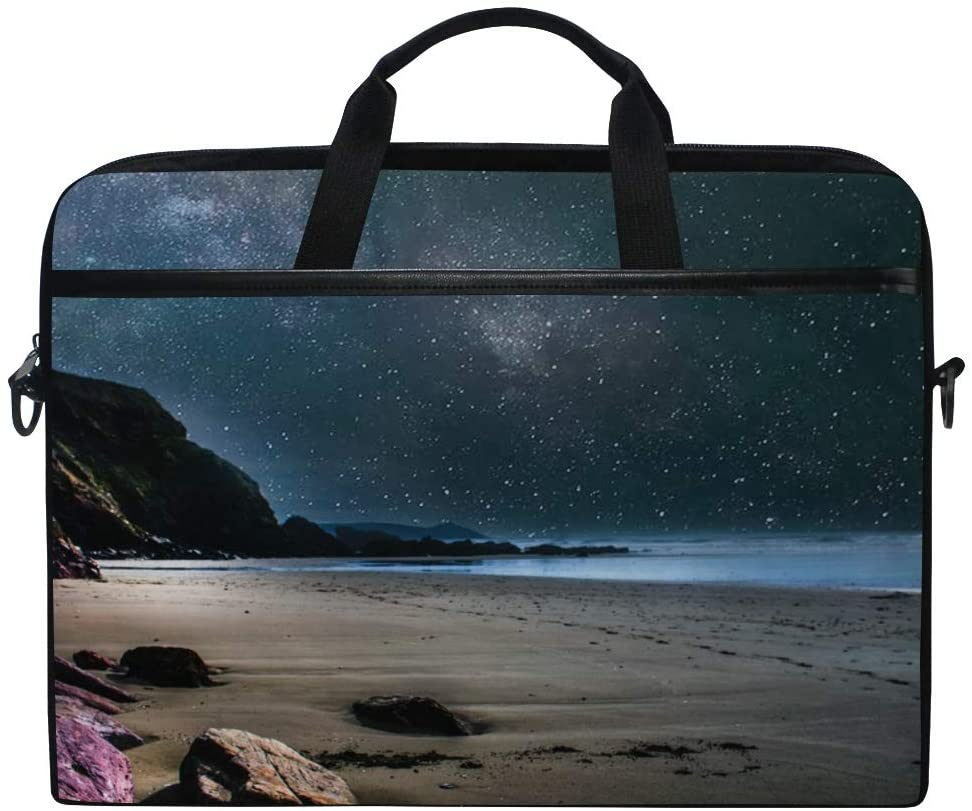 Beach Cliffs Evening Mens and Womens Computer Bags, Handbags, Briefcases, Shoulder Bags, Suitable for 15 Inch Computers