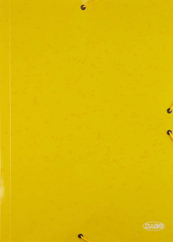 Cardboard Folder Folio Flaps Yellow Pack 14 Folders