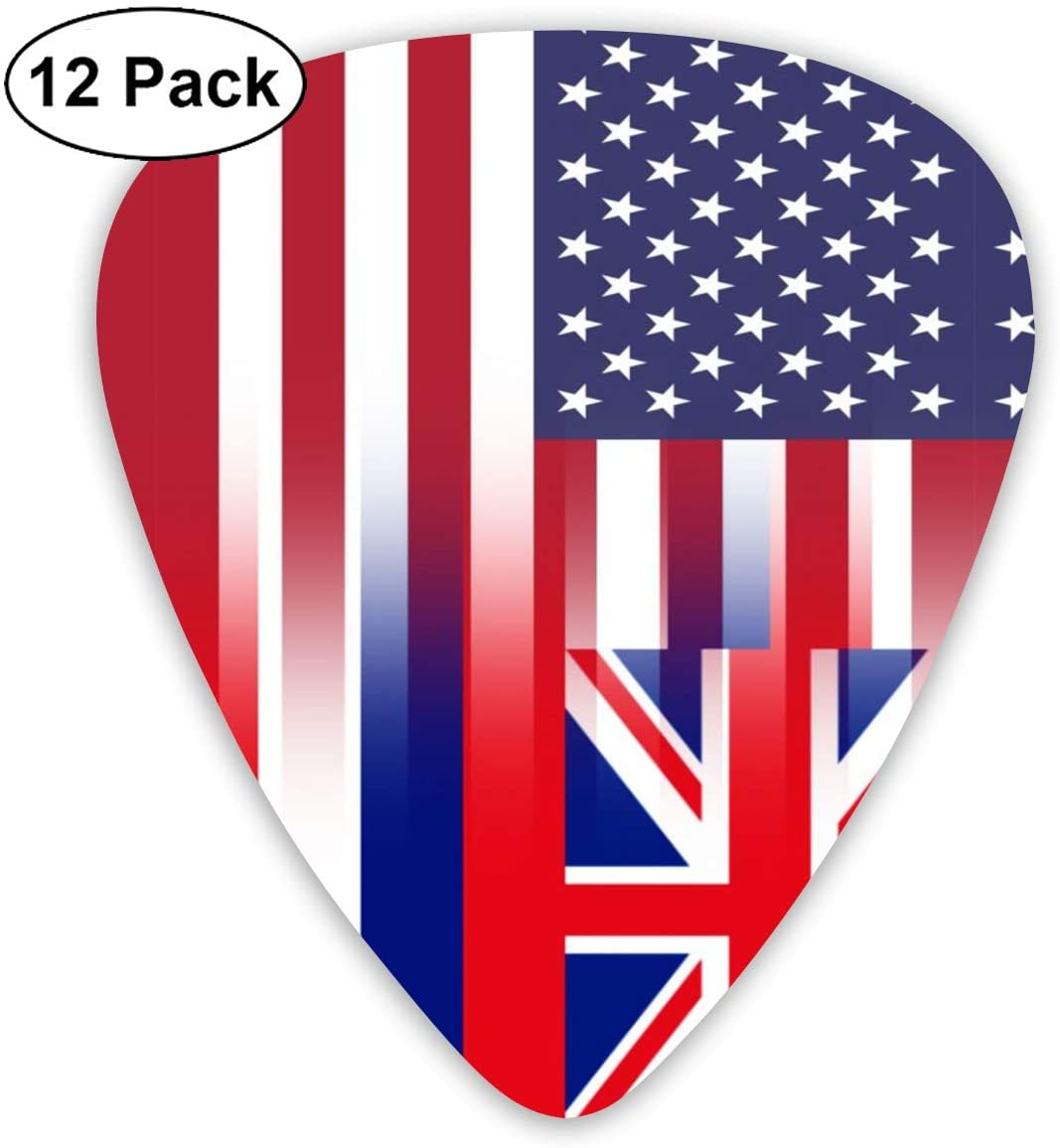 XKAWPC American Hawaii State Flag Cool Guitar Picks 12pcs,Unique Guitar Gift for Your Electric, Acoustic, Or Bass Guitar Includes 0.46, 0.71, 0.96mm