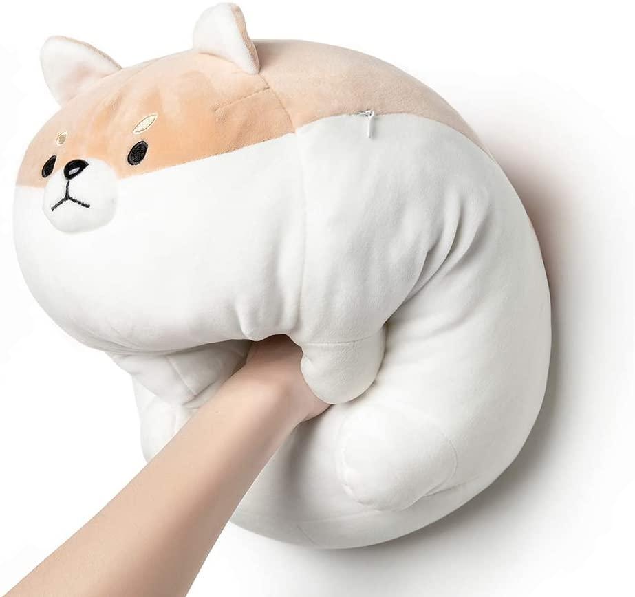 "Tezituor Corgi Plush Pillow, Soft Shiba Inu Akita Stuffed Animal Plush,Dog Doll Toy Gift for Kids and Friends.(Brown,16"")"