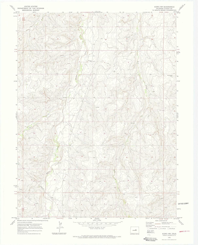 Map Print - Kiowa NW, Colorado (1970), 1:24000 Scale - 24