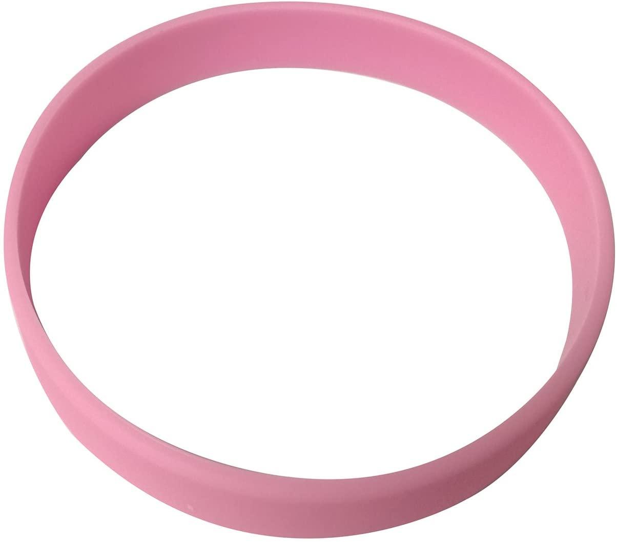 Vitalite 100pcs/set Plain Silicone Wristbands Blank Rubber Bracelets for Children