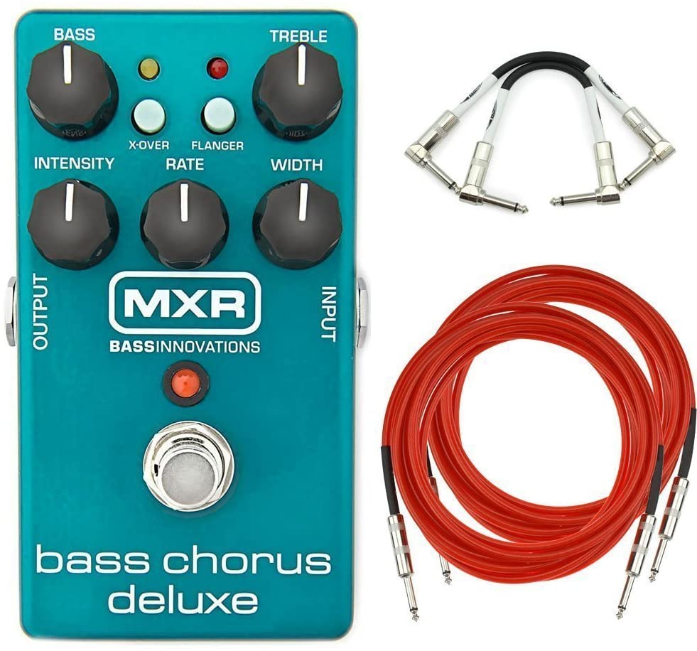 MXR M83 Bass Chorus Deluxe Analog Guitar Effect Pedal + Cables