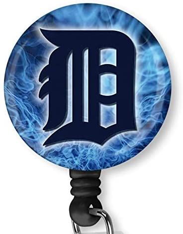 Detroit Tigers Retractable ID Card Badge Holder with Alligator Clip Name Nurse Decorative Badge Reel Clip on Card Holders
