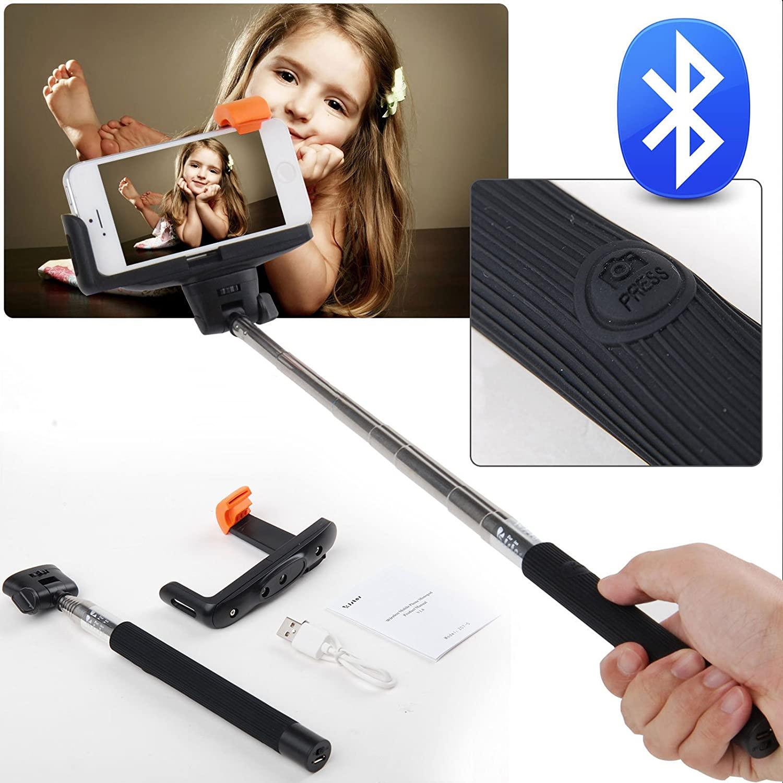Adutek Extendable Bluetooth Selfie Stick Monopod for Iphone Samsung HTC