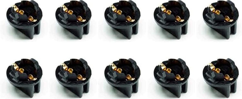 PA X 10 194 T10 #555 Pinball Machine Light Bulb Socket Twist Lock Wedge Instrument Base