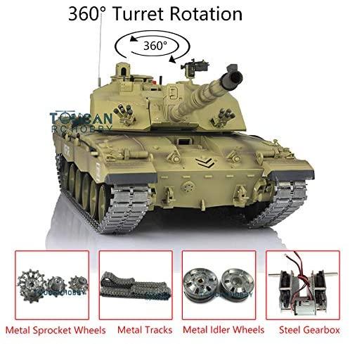 2.4G Henglong 1/16 6.0 Upgraded Metal Challenger II RC Tank 3908 W/ 360° Turret