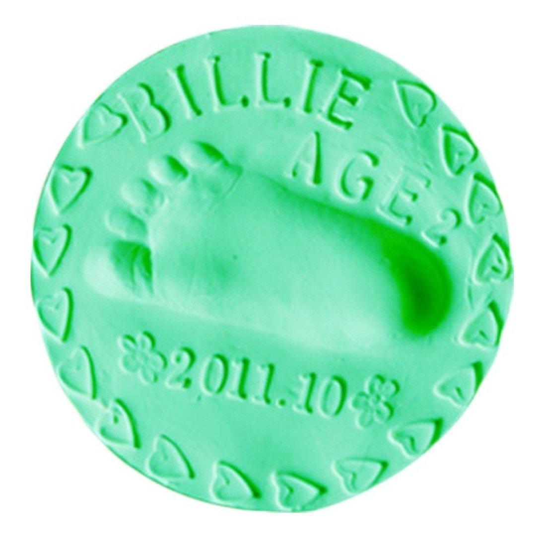 LKXHarleya 100g Baby Handprint Footprint Imprint Kit Casting Parent-Child Hand Ink pad Fingerprint Children Toys