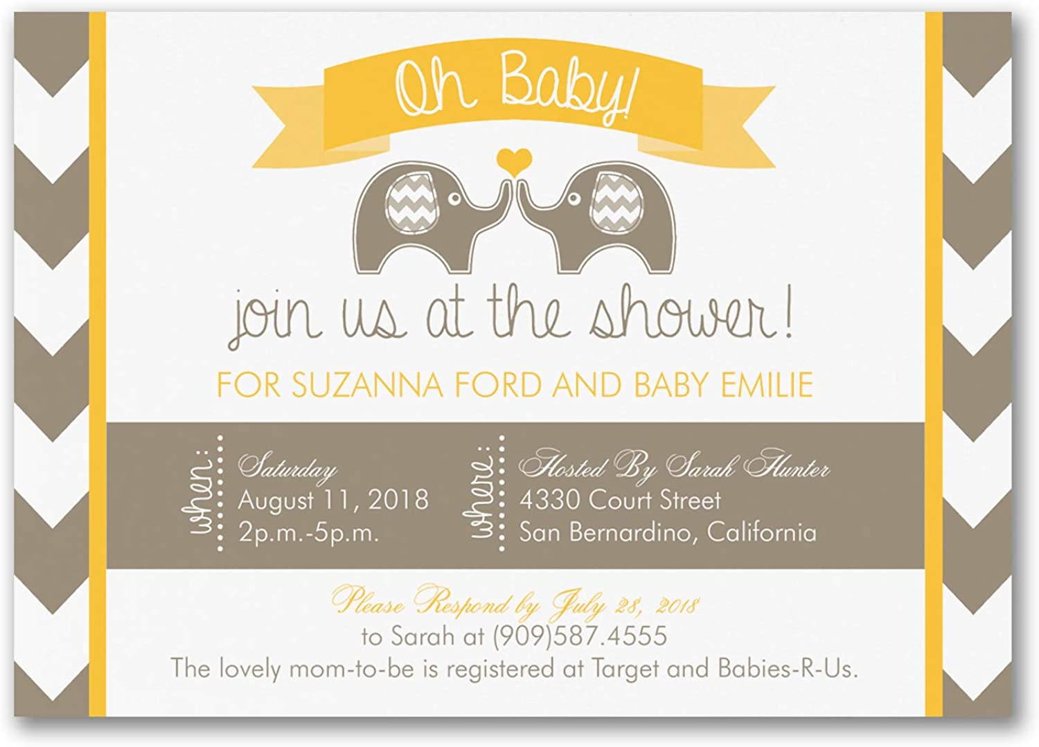 650pk Oh Baby - Baby Shower Invitation-Shop All Baby