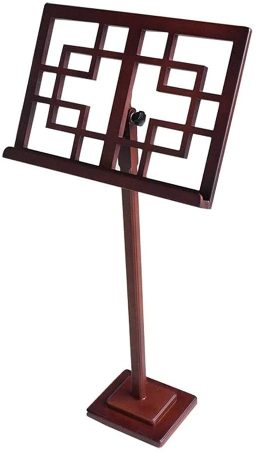 QIENON Music Stand Wooden Professional Lightweight Super Sturdy Stability Lightweight & Compact for Instrumental Performance Carring 1206