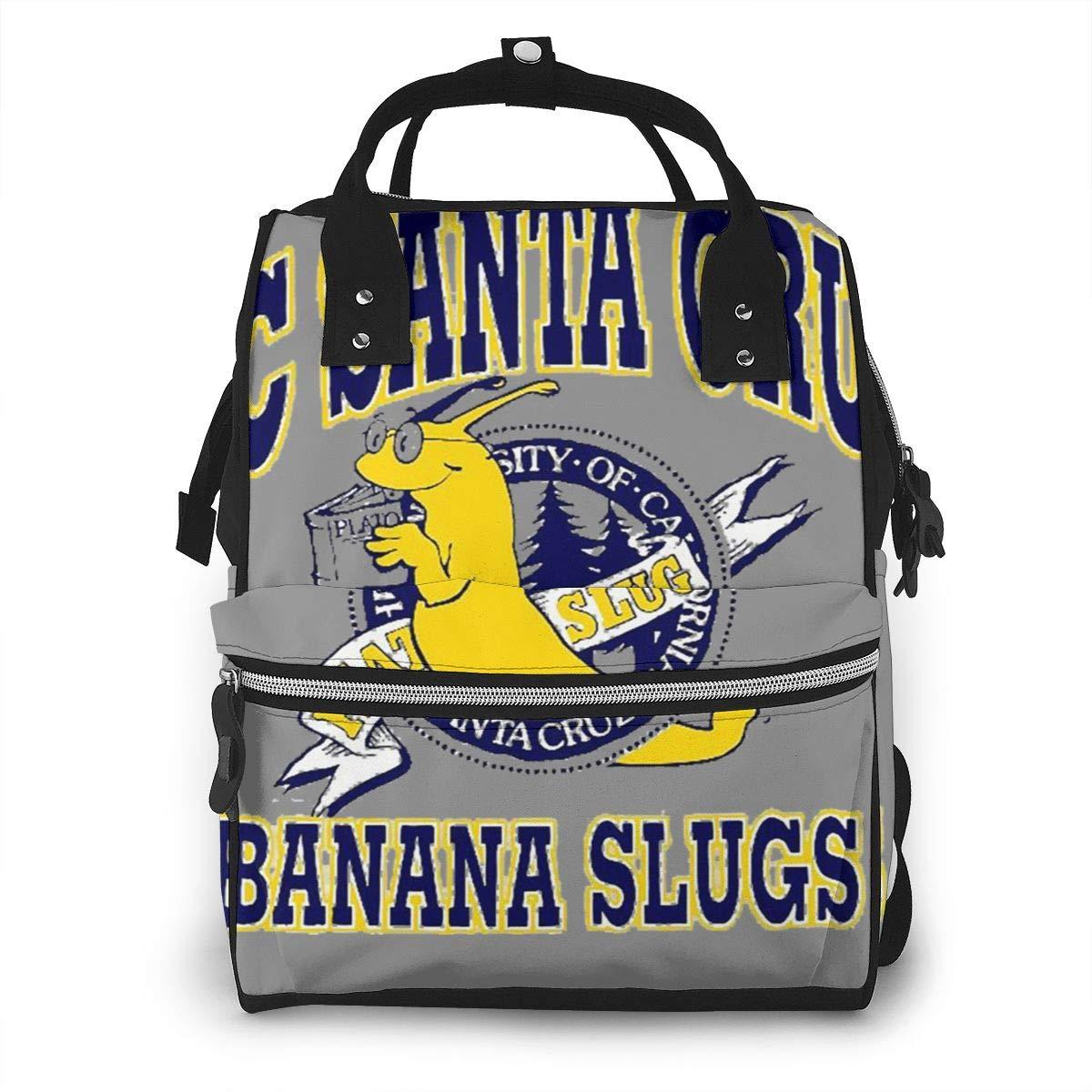 Uc Santa Cruz Banana Slugs Durable, Large Capacity, Stylish, Adjustable Strap Length Mummy Backpack