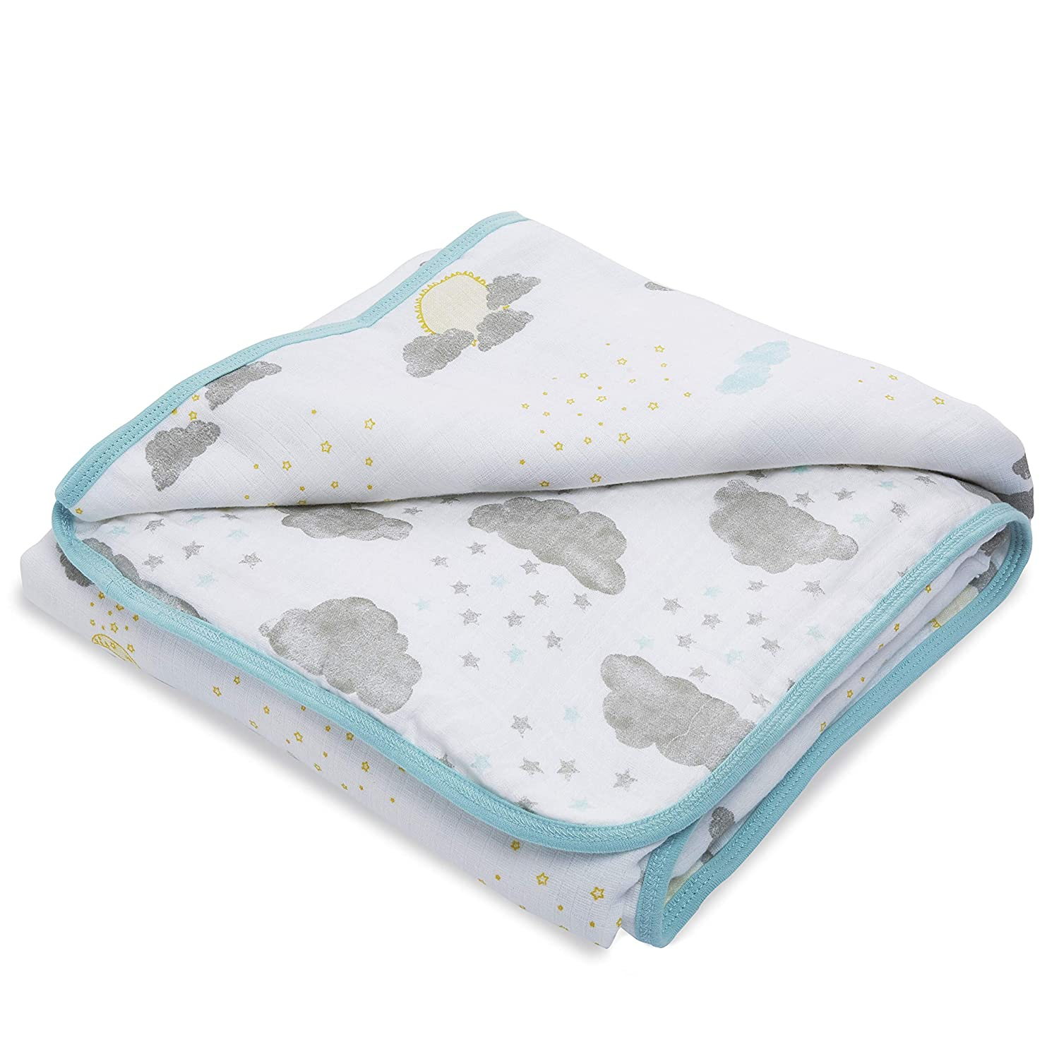Aden by aden + anais Classic Dream Blanket, Partly Sunny - Night and Day