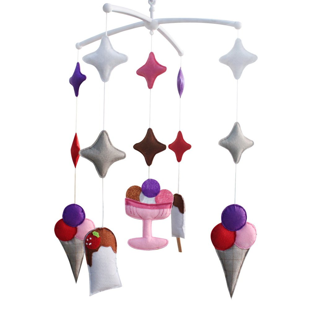 Crib Musical Mobile Decoration Nursery Baby Crib Mobile for 0-2 Years, MP15