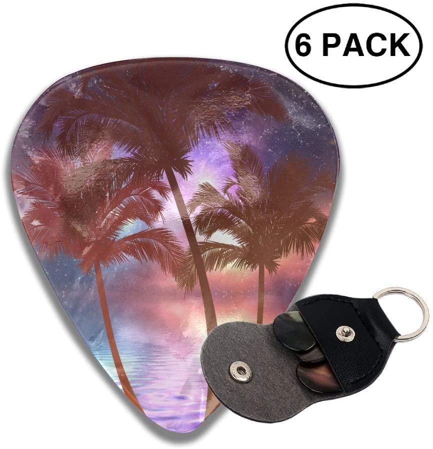 TO-JP 351 Shape Classic Celluloid Coconut Guitar Picks 6 Pack