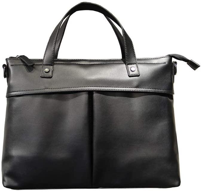ZZBD Men Briefcase Lawyer Attache Case Messenger Bags Handbags Shoulder Bags Laptop Bag Fashion Casual Simple Leather Business Briefcase Men's Bag Water Resisatant Business Messenger