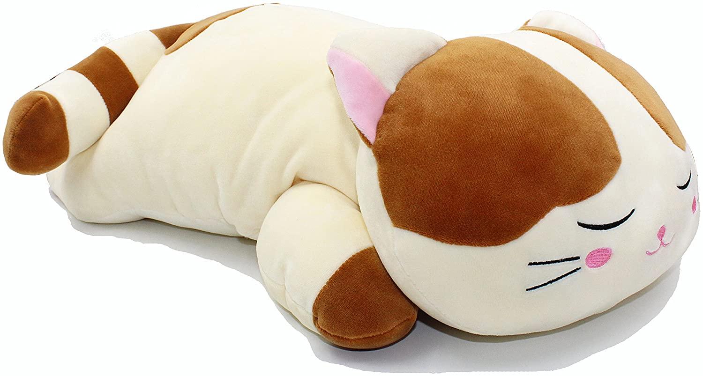 Vintoys Very Soft Cat Big Hugging Pillow Plush Kitten Kitty Stuffed Animals Brown 23.5