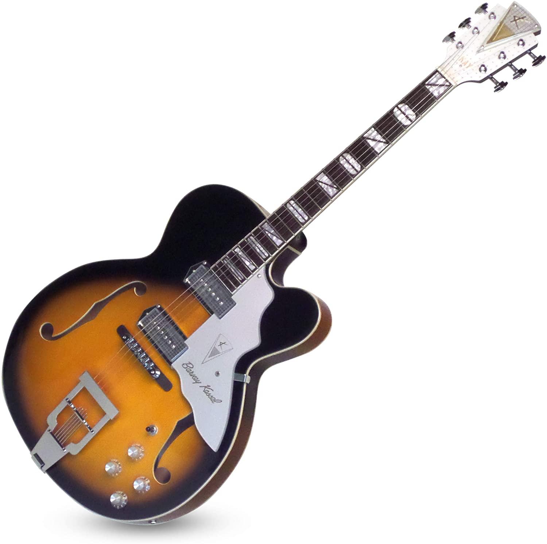 "Kay Reissue 1957 Barney Kessel ""Jazz Special"" Electric Guitar Limited Production Signature Edition & Case - Sunburst (K8700VTS)"