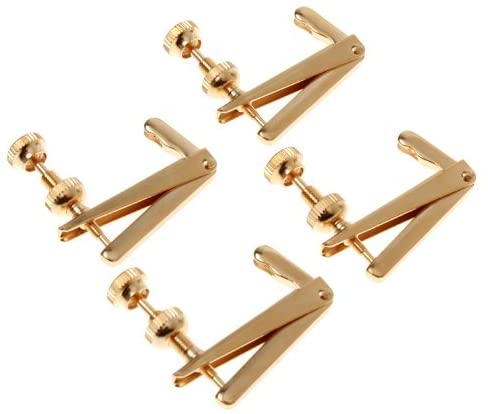 Golden Copper 4/4 3/4 Violin Metal Fine Tuner Adjuster Parts Violin Parts