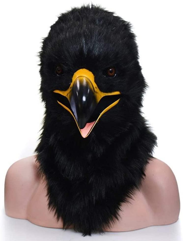 LIULU Toys Games Plush Torus Animal Eagle Image Performance Mask New Eagle Creative Hood Mask Dress Up Pretend Play (Color : 3, Size : One Size)