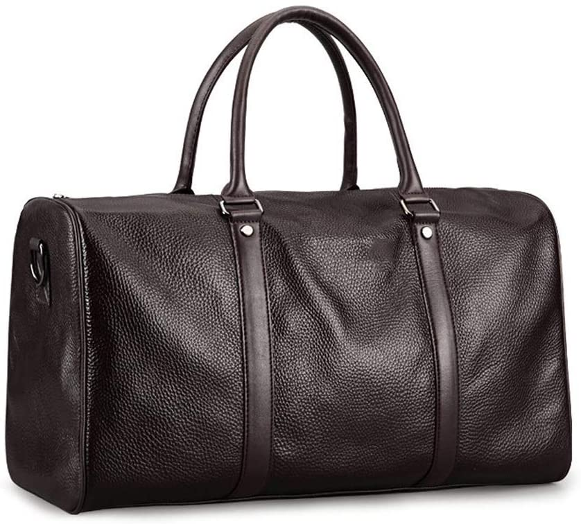 Sports Fitness Bag - Men's First Layer Leather Handbag, Multi-function Large Capacity Shoulder Bag Business Baggage Men's Bag, Storage, Breathable, Wear-resistant, Wide 440mm Height 260mm Thick 190m