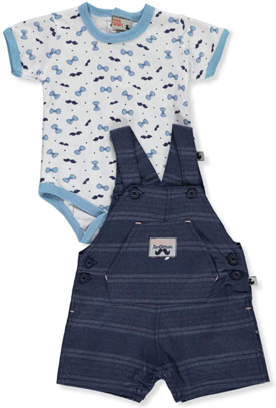 DDG Sport Baby Boys' Beach Explorer 2-Piece Shortalls Set Outfit
