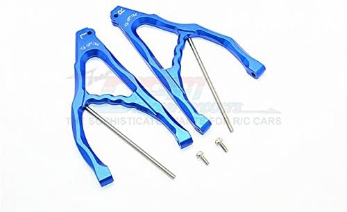 Parts & Accessories TRX REVO/E-REVO Aluminium Rear Upper Suspension ARM - 1PAIR Set (for E-REVO 560871, REVO, Summit) - ER057 - (Color: Blue)