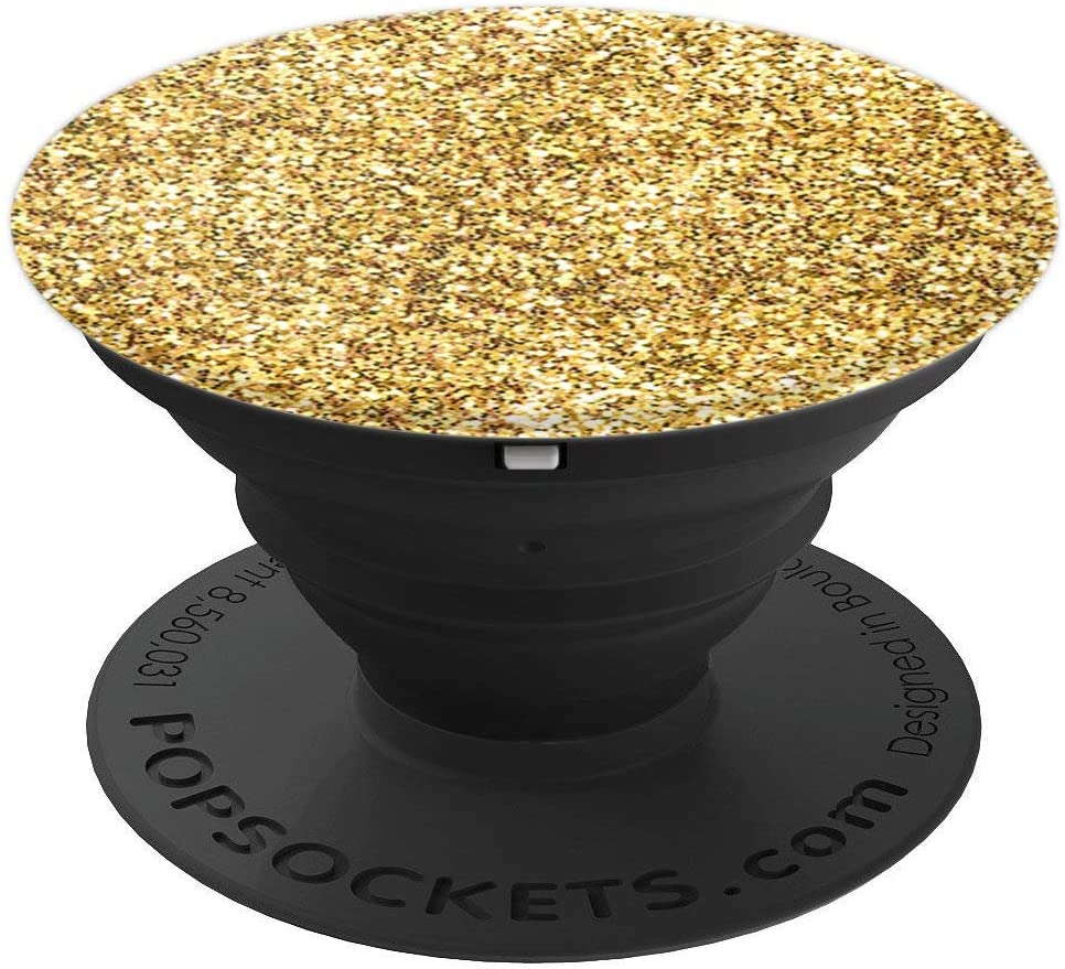 Beautiful Chic All Yellow Starry Look Design For Girls Women PopSockets Grip and Stand for Phones and Tablets