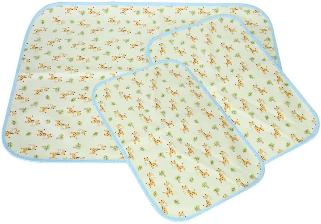 MyKazoe Waterproof Bassinet Play Yard Pad & Lap Pads - Set of 3 (Giraffe)