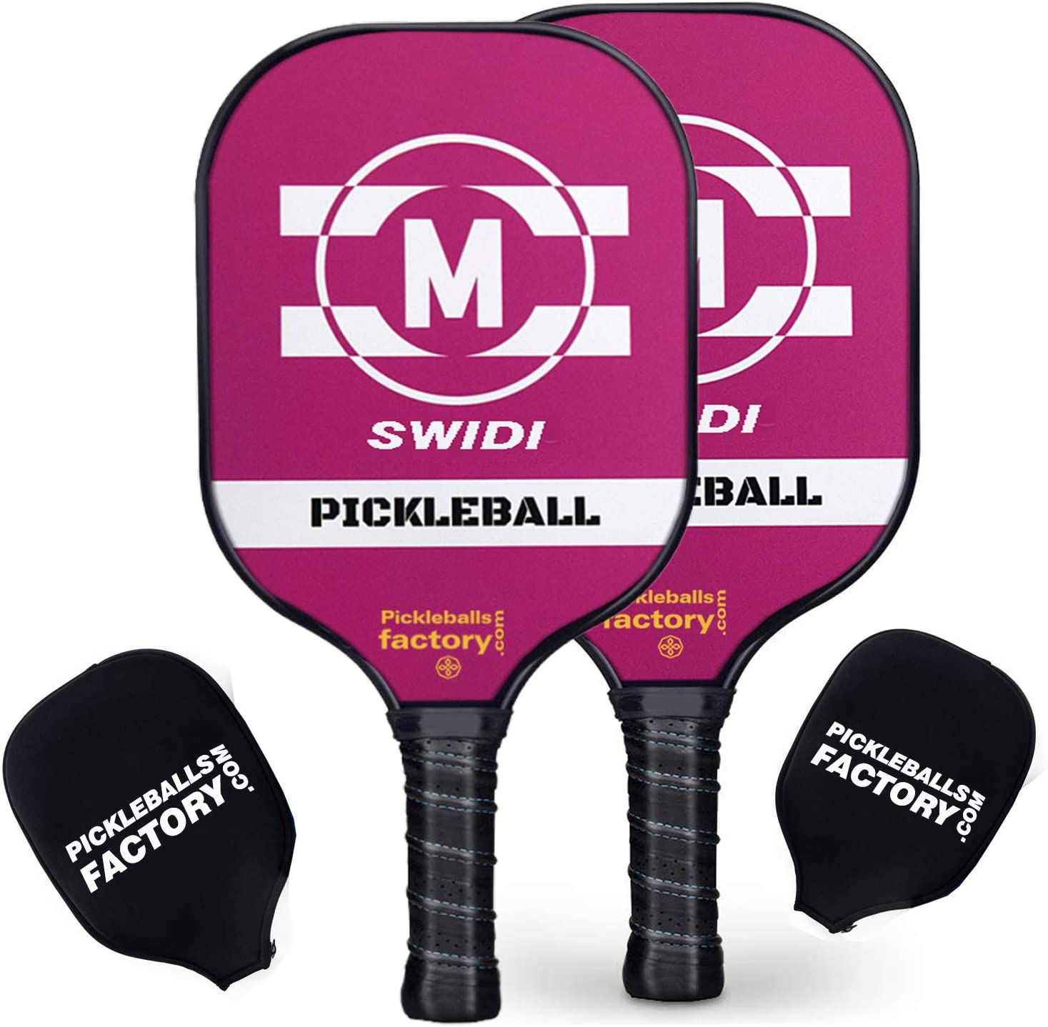 Pickleball Paddle Set, Pickleball Set, Pickleball Paddles, Pickleball Game Set 2 Paddles M-Pick Pickle Ball Set for Pro, Usapa Approved, Light Weight Outdoor Indoor