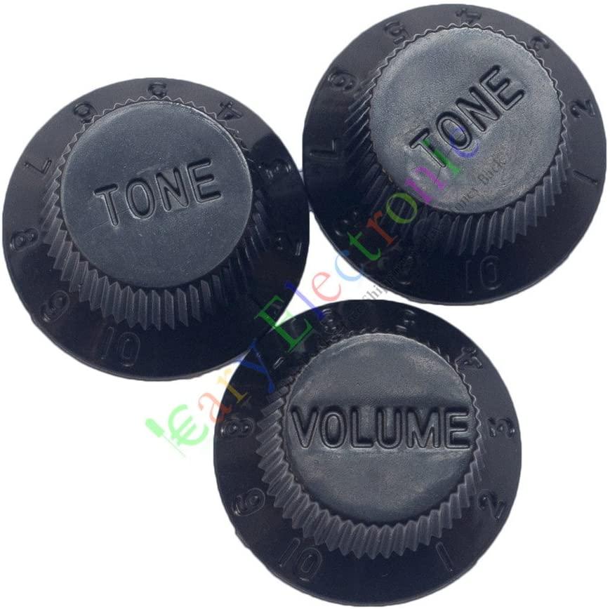 Cayyi 1set 26mm Black knob Guitar tube potentiometer cap Volume Tone audio parts amp