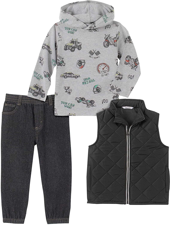 Kids Headquarters Baby Boys 3 Pieces Vest Pants Set