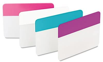 Durable Hanging File Tabs (Pack of 24) [Set of 2] Color: Assorted Pastel